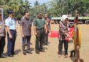 Bupati Purbalingga membuka pelaksanaan TMMD Sengkuyung Tahap III di lapangan desa Tunjungmuli Kecamatan Karangmoncol